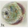 Glass Bead Drop/foil 21x12mm Crystal